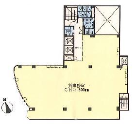 上野HYビル:基準階図面