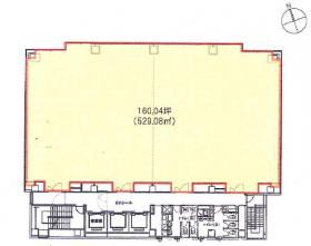 明産西新橋ビル:基準階図面