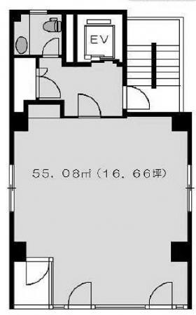 田村高輪ビル:基準階図面