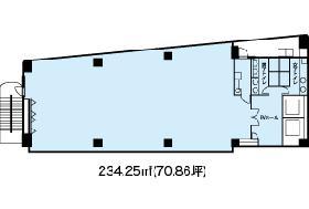 グレイス泉岳寺前ビル:基準階図面