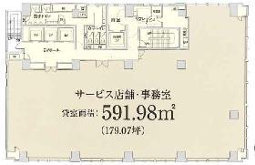 八重洲口大栄ビル:基準階図面