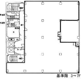 神田大木ビル:基準階図面