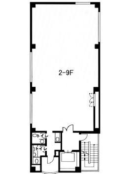 VORT芝公園Ⅱ(旧芝イースト)ビル:基準階図面