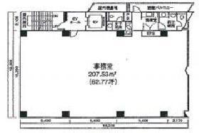 西五反田プレイス(旧:東京技販)ビル:基準階図面