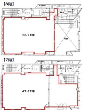 西五反田プレイス(旧:東京技販)ビルのエントランス