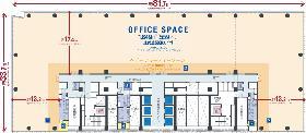 横浜三井ビルディング:基準階図面