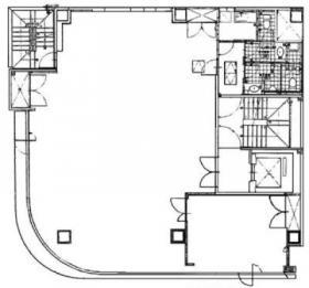 ユニコム人形町ビル:基準階図面