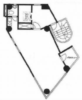 ACN四谷三丁目ビル(旧:ポワロービル):基準階図面