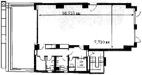 近代科学社ビル:基準階図面