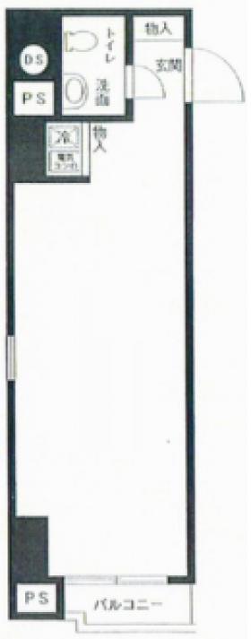 新宿ダイカンプラザA館ビル:基準階図面