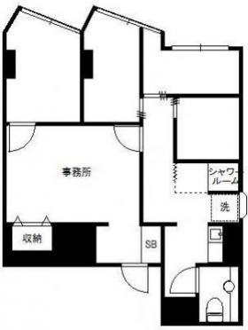 新宿ダイカンプラザB館:基準階図面