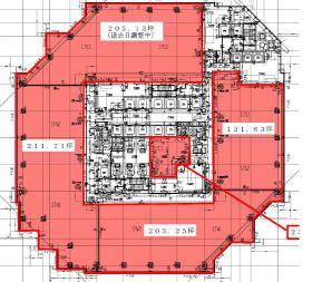 レンタルオフィス品川イーストワンタワー:基準階図面