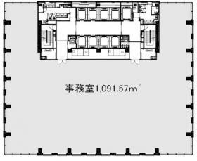 レンタルオフィス汐留芝離宮ビル:基準階図面