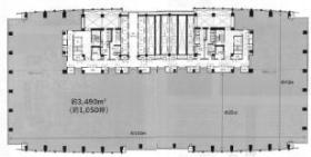 レンタルオフィス汐留ビル:基準階図面