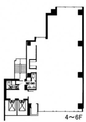 神谷町麻布台(旧:神谷町サンケイ)ビル:基準階図面