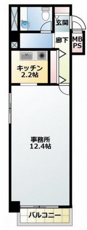 ビューシティ新宿御苑:基準階図面