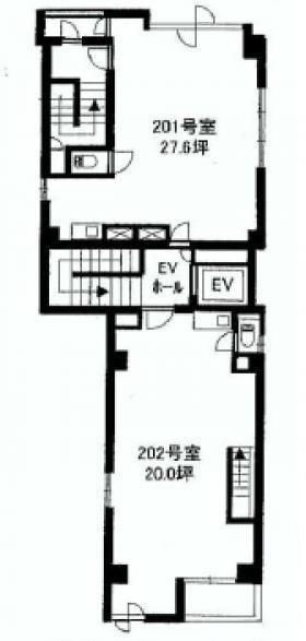 エレメンツ新宿ビル:基準階図面