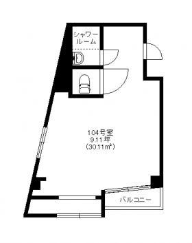 第32宮廷ビル:基準階図面