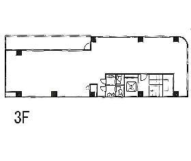 新八光ビル:基準階図面