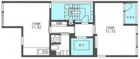 西麻布3243ビル:基準階図面