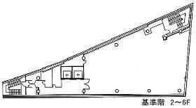 サクセス銀座ファーストビル:基準階図面
