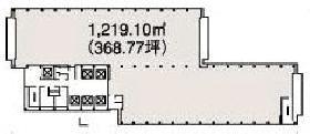 虎の門三井ビルディング:基準階図面