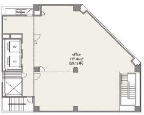 デュープレックス銀座タワー5/13ビル:基準階図面