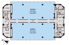 ビッグス新宿ビル:基準階図面