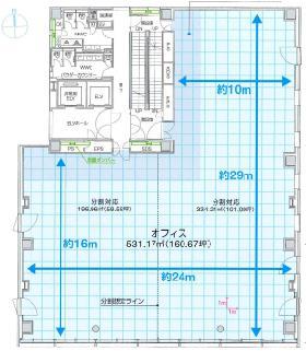 NBF神田須田町ビル:基準階図面