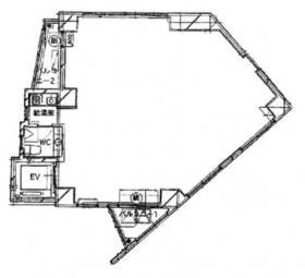 飯倉ITビル:基準階図面