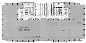 汐留ビルディング:基準階図面