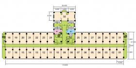 TRCセンタービル:基準階図面