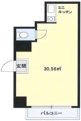 成子坂ハイツビル:基準階図面