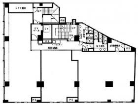 同栄新宿ビル:基準階図面