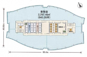 汐留シティセンター:基準階図面