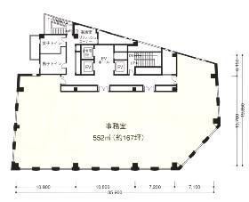 虎ノ門清和ビル:基準階図面