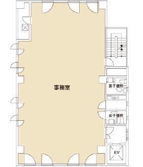 大島ビル:基準階図面