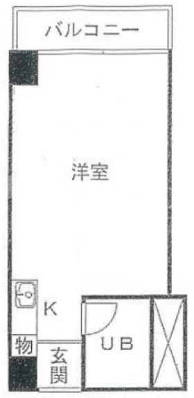 東京ビュック中銀ビル:基準階図面