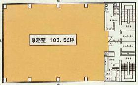 赤坂KSビル:基準階図面