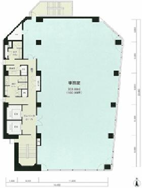 第一びる西館(旧CN-2ビル)ビル:基準階図面