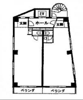 遠山ビル:基準階図面
