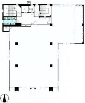 広尾オフィスビル:基準階図面