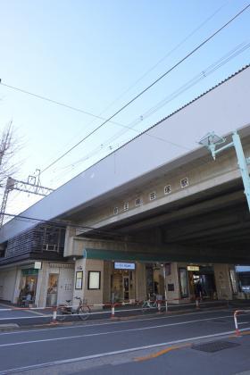 笹塚駅高架下店舗ビルの外観写真