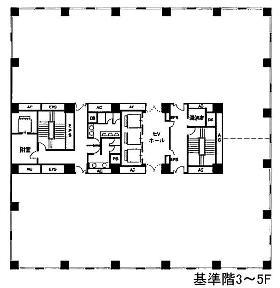オリックス目黒ビル:基準階図面
