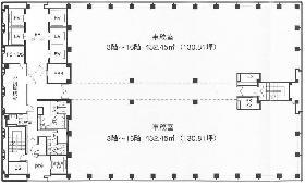 新宿三井ビルディング二号館:基準階図面