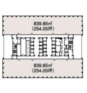 新宿三井ビルディング:基準階図面