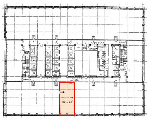 新宿三井ビルディング 39F 27.14坪(89.71m<sup>2</sup>) 図面