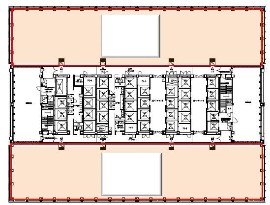 新宿三井ビルディング 17F 254.05坪(839.83m<sup>2</sup>) 図面