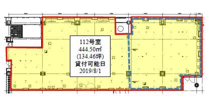 西新宿三井ビルディング 1F 134.46坪(444.49m<sup>2</sup>) 図面