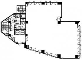 大井朝陽ビル:基準階図面